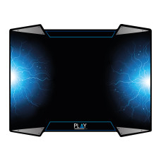Ewent PL3340 mouse pad Gaming mouse pad Black, Blue, Silver