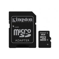 Kingston Technology 8GB microSDHC 8GB MicroSD Flash flashgeheugen