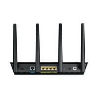 ASUS RT-AC87U wireless router Dual-band (2.4 GHz / 5 GHz) Gigabit Ethernet Black