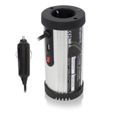 Ewent EW3990 power adapter/inverter Auto 150 W Black, Silver