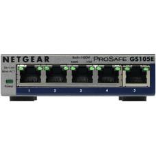 Netgear GS105E-200PES network switch Managed L2/L3 Gigabit Ethernet (10/100/1000) Grey