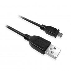 Ewent EW9911 1m USB A USB Micro Zwart mobiele telefoonkabel