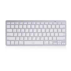 Ewent EW3163 keyboard Bluetooth QWERTY US International Silver, White