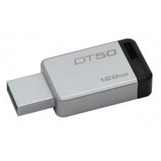 Kingston Technology DataTraveler 50 128GB 128GB USB 3.0 (3.1 Gen 1) USB-Type-A-aansluiting Zwart, Zilver USB flash drive