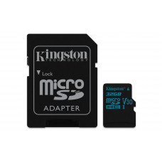 Kingston Technology Canvas Go! memory card 32 GB MicroSDHC Class 10 UHS-I