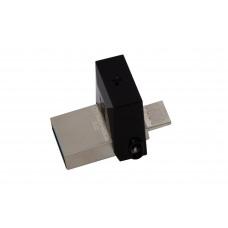 Kingston Technology DataTraveler 64GB microDuo 3.0 64GB USB 3.0 (3.1 Gen 1) USB-Type-A-aansluiting Zwart USB flash drive
