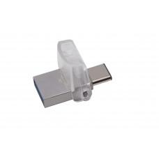 Kingston Technology DataTraveler microDuo 3C 64GB 64GB USB 3.0 (3.1 Gen 1) USB-Type-A-aansluiting USB Type-C-connector Zwart USB flash drive