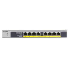 Netgear GS108LP Unmanaged Gigabit Ethernet (10/100/1000) Power over Ethernet (PoE) 1U Black, Grey