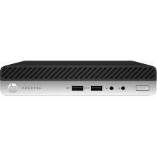 HP ProDesk 405 G4 DDR4-SDRAM 2400GE mini PC AMD Ryzen 5 PRO 8 GB 256 GB SSD Windows 10 Pro Black, Silver