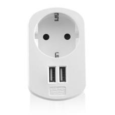 Ewent EW1211 oplader voor mobiele apparatuur Binnen Wit