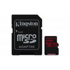 Kingston Technology Canvas React memory card 64 GB MicroSDXC Class 10 UHS-I