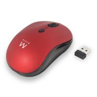 Ewent EW3230 RF Draadloos Optisch 1600DPI Ambidextrous Zwart, Rood muis