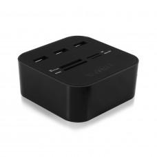 Ewent EW1044 USB 2.0 Zwart geheugenkaartlezer