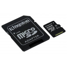 Kingston Technology microSDXC Class 10 UHS-I Card 64GB 64GB MicroSDXC UHS-I Klasse 10 flashgeheugen