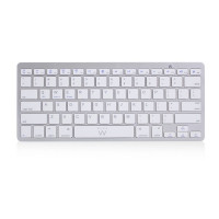 Ewent EW3163 Bluetooth QWERTY US International Zilver, Wit toetsenbord
