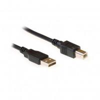 Ewent EC2403 3m USB A USB B Mannelijk Mannelijk Zwart USB-kabel