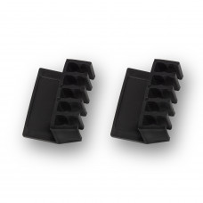 Ewent EW1565 cable organizer Cable holder Desk Black 2 pc(s)